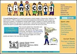 thumbnail image of Linscott Charter School website