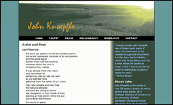 thumbnail of John Knoepfle's website